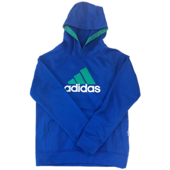 adidas Other - Adidas Blue Boys Hooded Pullover Sweater, Size L